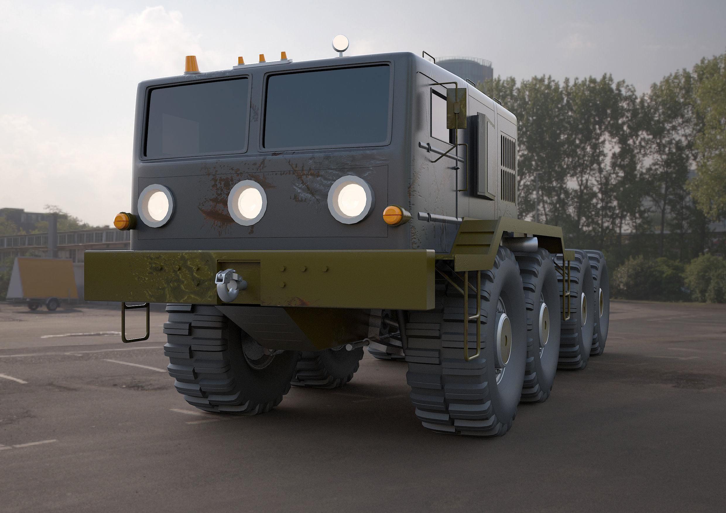 MA3-537 military tractor