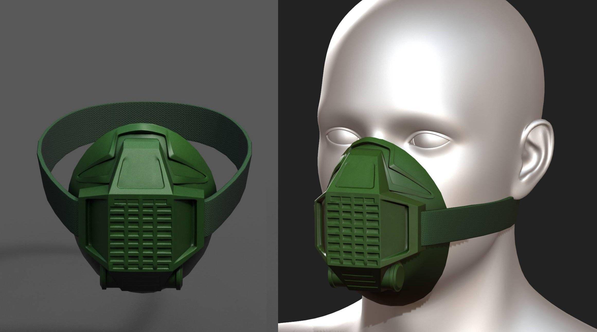 Gas mask respirator scifi fantasy