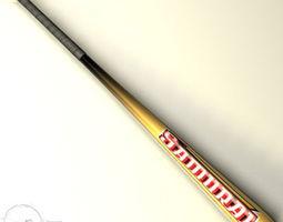 baseball bat 6 3d model obj 3ds c4d dxf