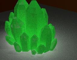 Mineral green cristal 3D