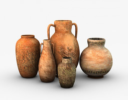 Egyptian Pottery Collection 3D model
