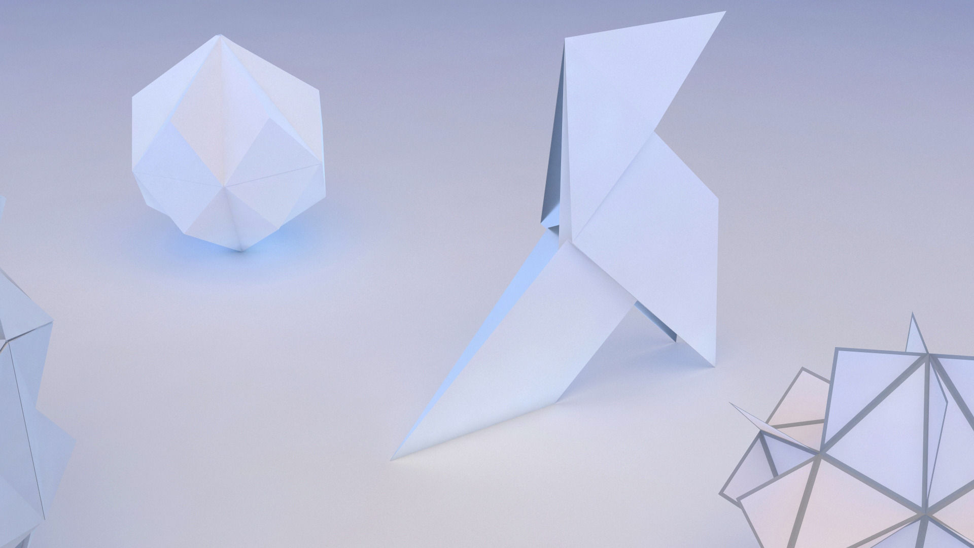 Origami Geometric 3D Model MAX OBJ 3DS FBX MTL | CGTrader.com - photo#27