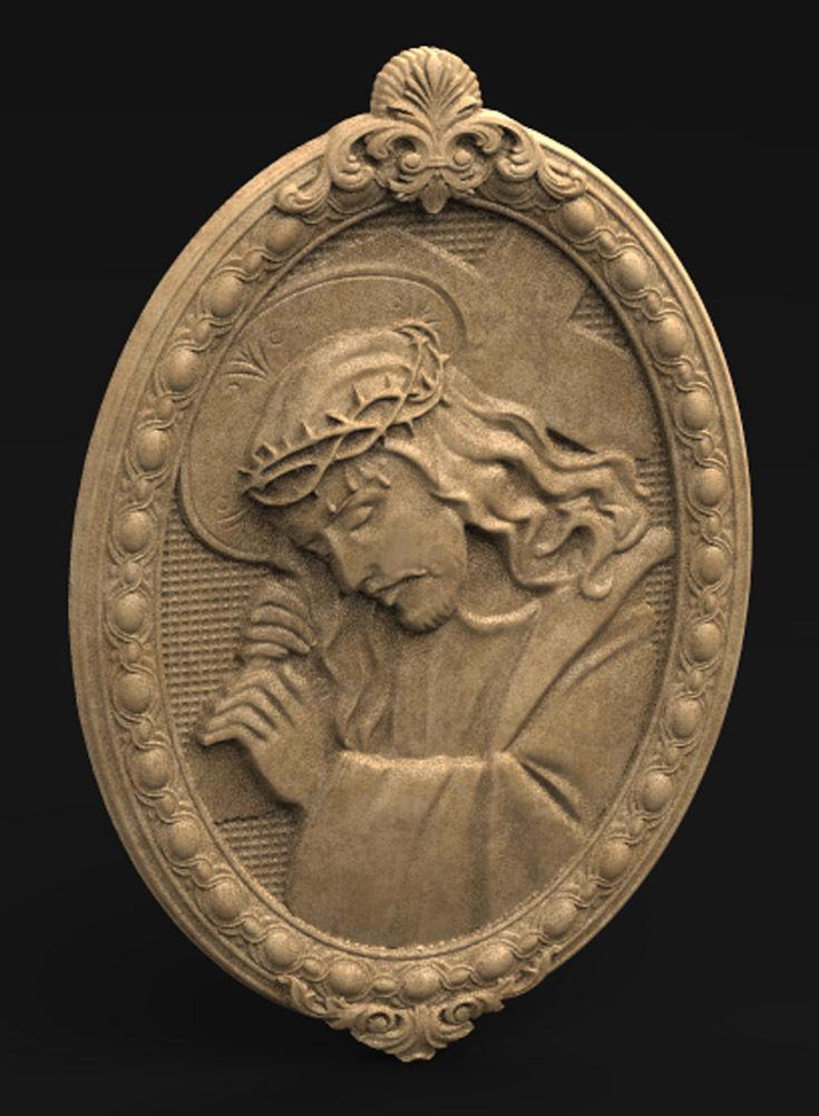Jesus Christ Frame 3D Model