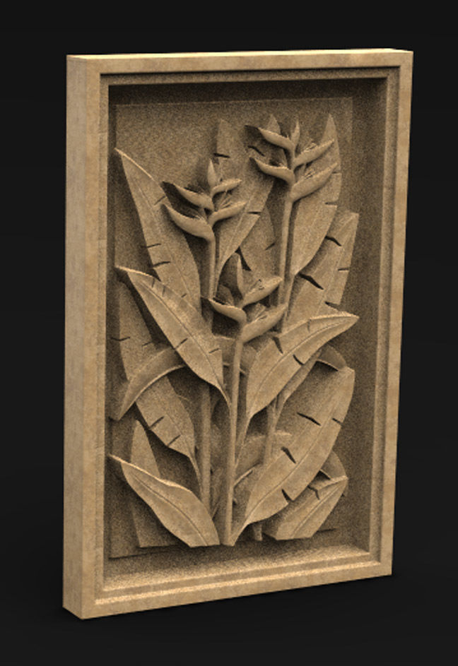 Decorative Panel Nature 3 3D Model