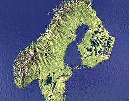 sweden norway finland 3d