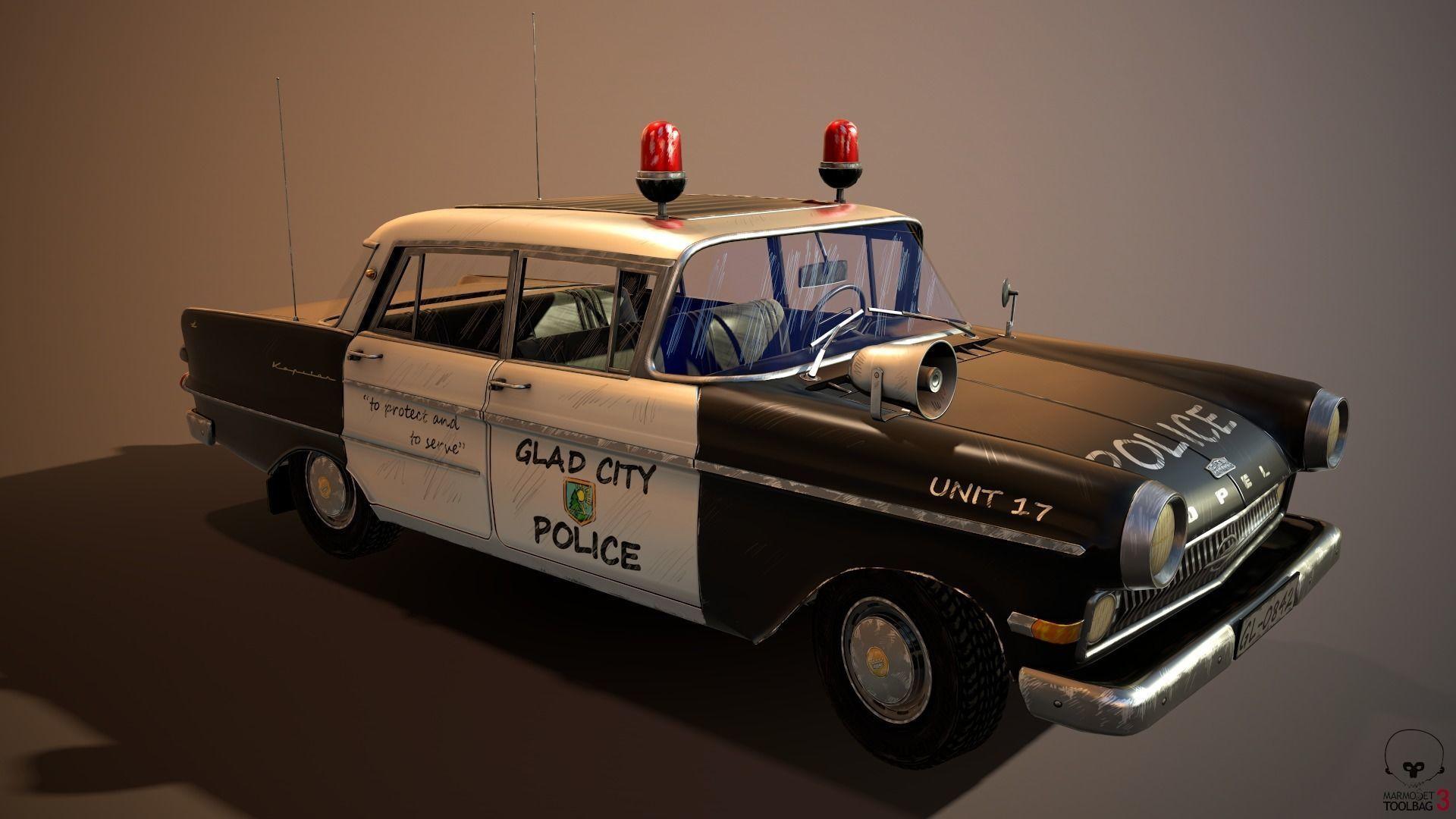 police car stylized