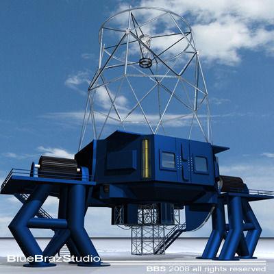 telescope 01 3d model 3ds c4d 1