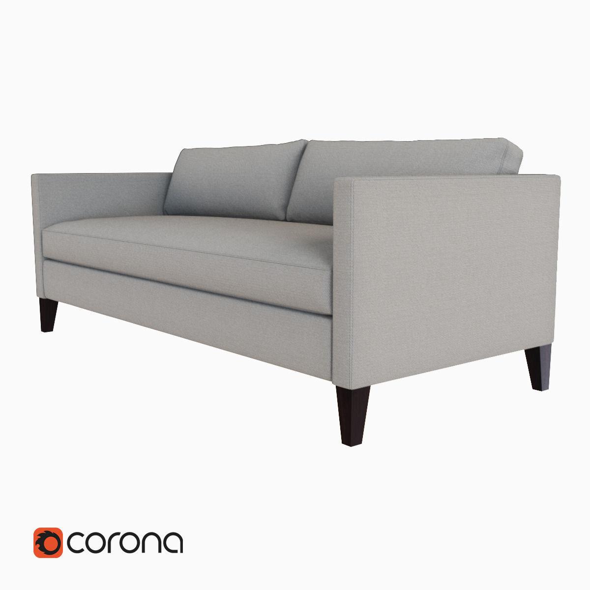 West Elm Dunham Down Filled Sofa Box Cushion Model Max Obj Mtl Fbx