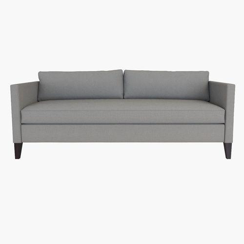 Attirant West Elm Dunham Down Filled Sofa   Box Cushion 3D Model
