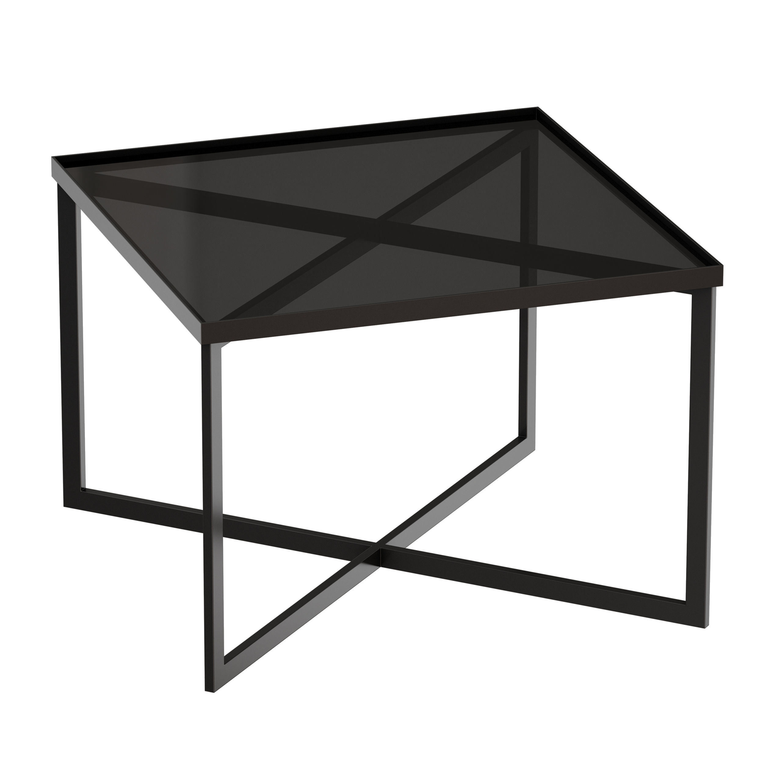 Gibson Smoke Glass Bunching Table Crate and 3D model