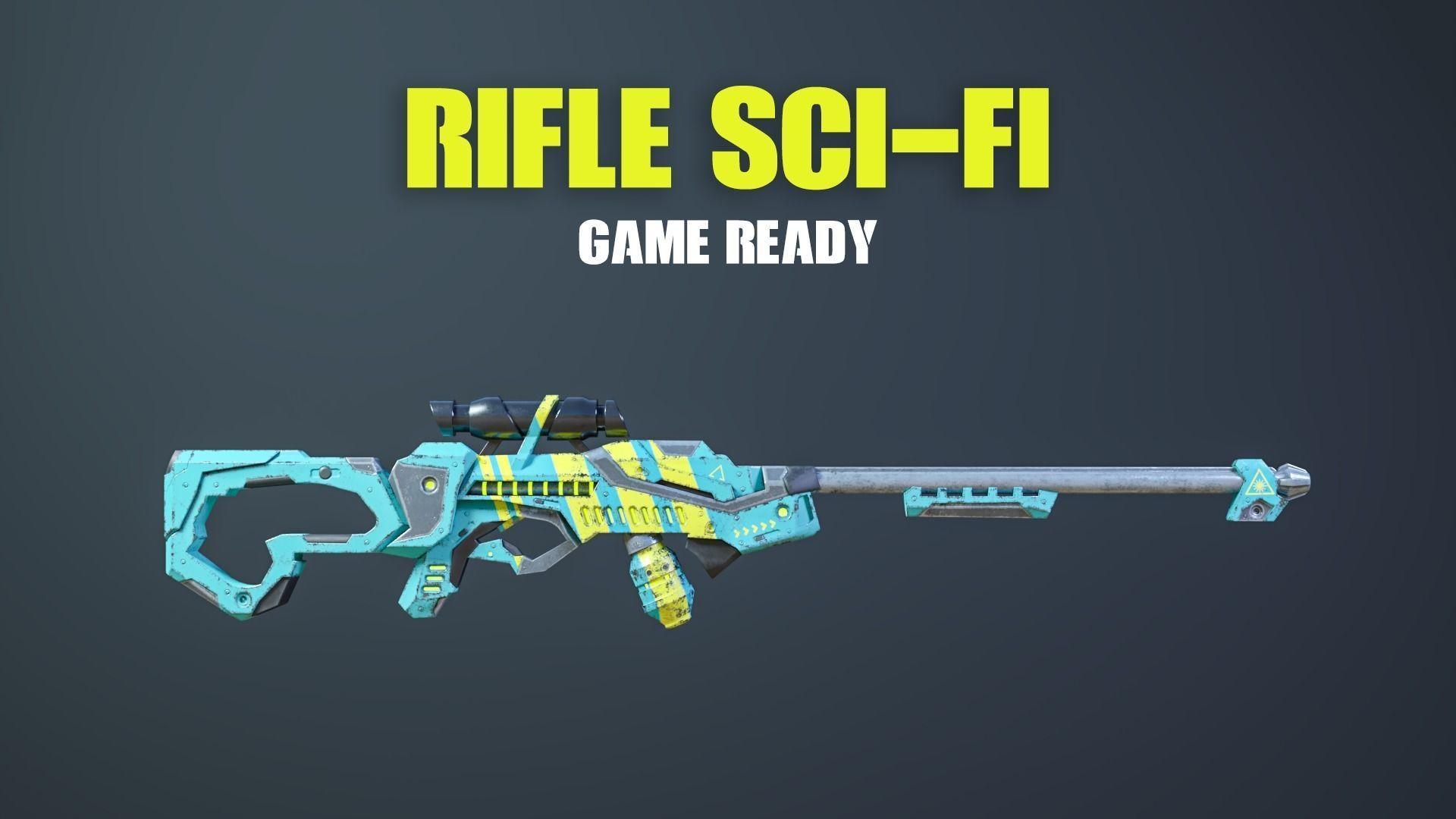 Rifle Sci-Fi Game Ready
