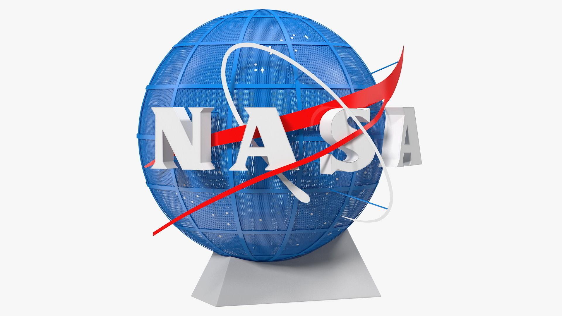 NASA Logo on Globe