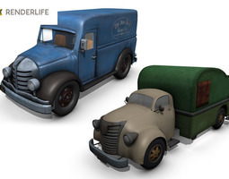 rigged truck pack 1 3d
