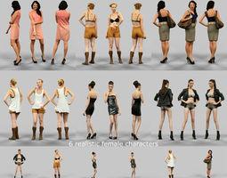 6 Realistic Female Characters Vol 4 3D Model