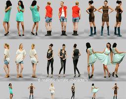 6 Realistic Female Characters Vol 6 3D Model