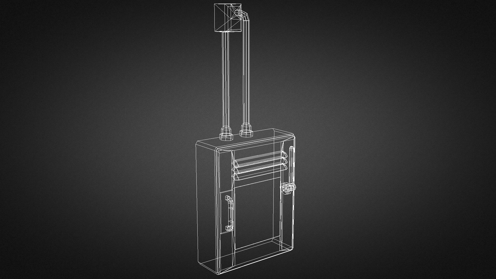 3d model electric fuse box 01 vr ar low poly max obj. Black Bedroom Furniture Sets. Home Design Ideas