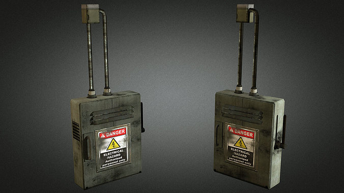 electric fuse box 01 3d asset cgtrader rh cgtrader com fuse box sniper game fuse box in hitman game