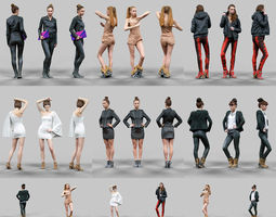 6 realistic female characters vol 7 3d model realtime