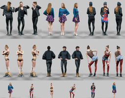 6 Realistic Female Characters Vol 12 3D Model