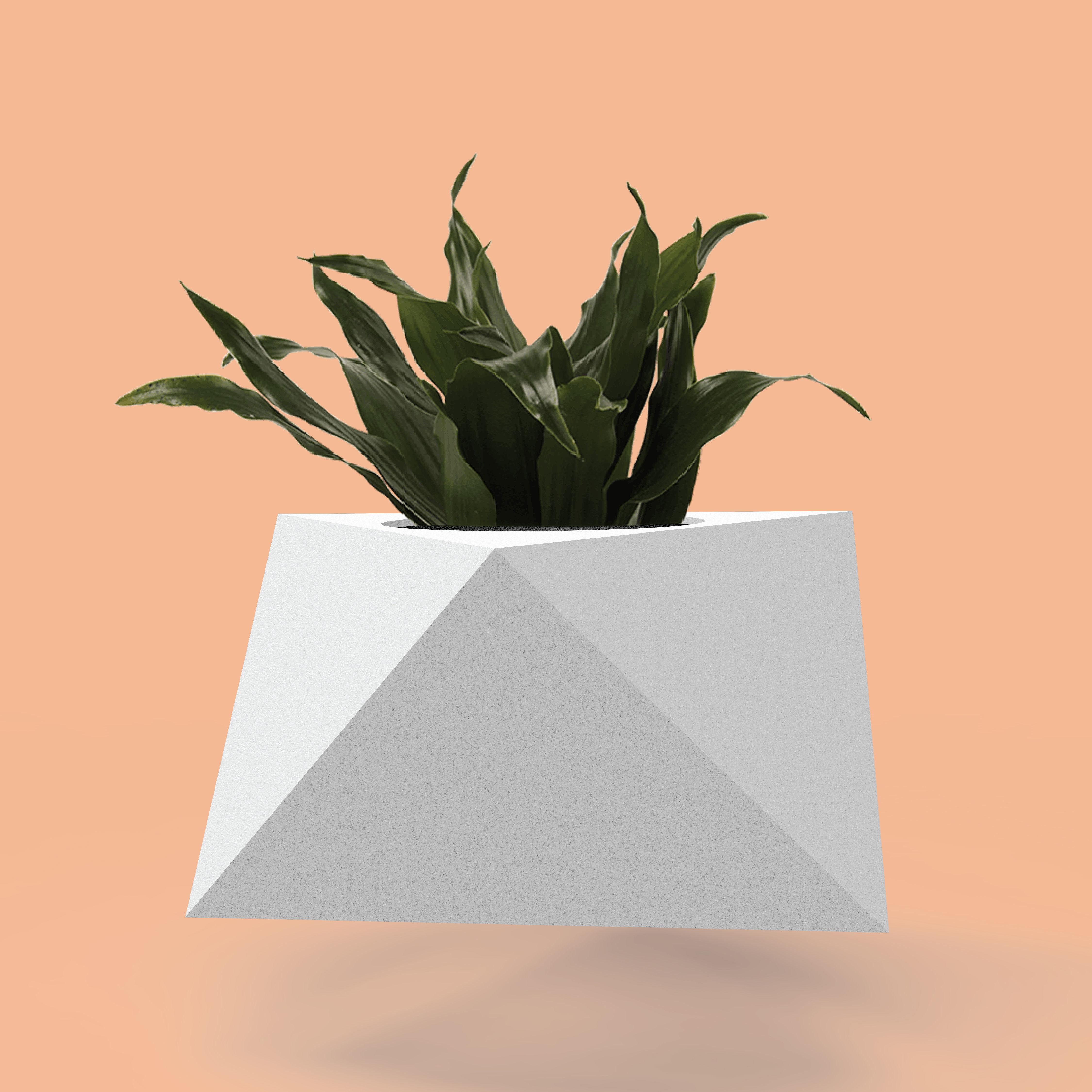 Mold for concrete planter pot