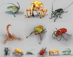 Insect Collection Vol 2 3D Model