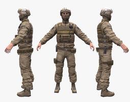 3D model Soldier Assault 2
