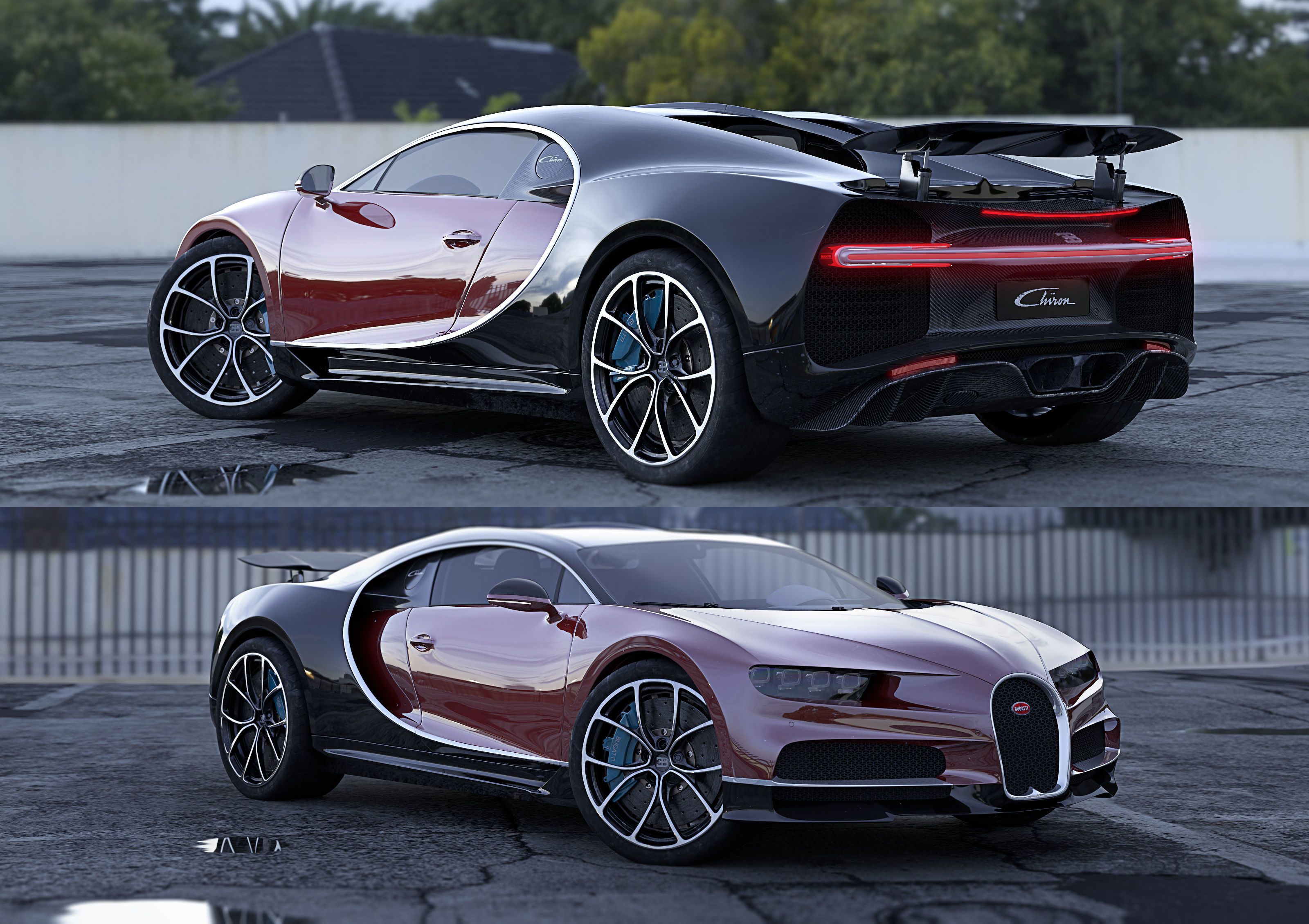 luxury Bugatti Chiron 3D model | CGTrader