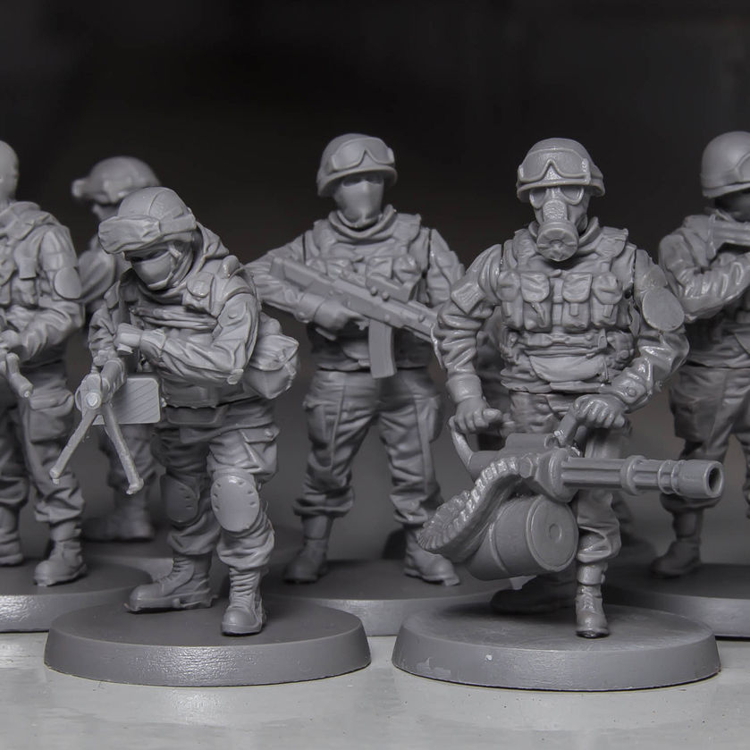Soldier squad 28 mm scale