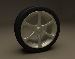 Car Wheel R34 3D model