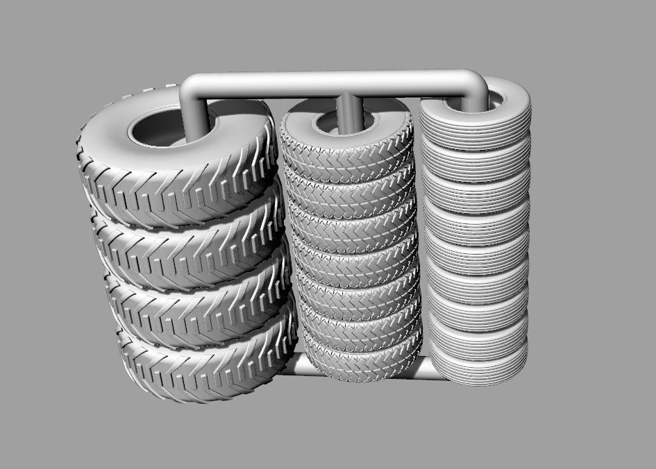 Tabletop gaming miniature Tyres Tires 32mm