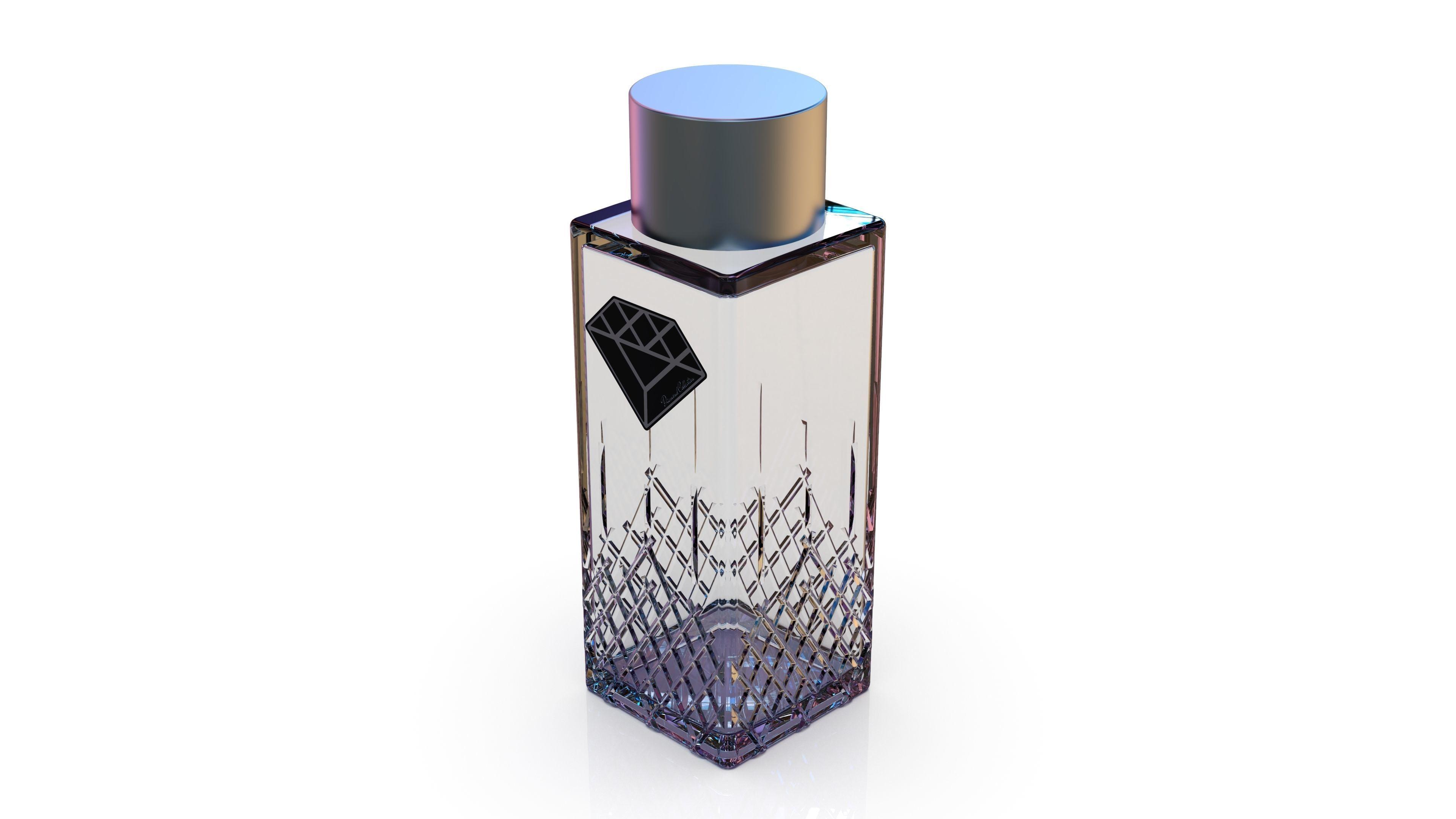 Diamond cosmetics bottle - 33x33 mm - V - 60 mL