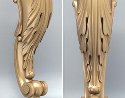 3D model Furniture leg 002