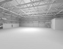 3D model Hangar Scene