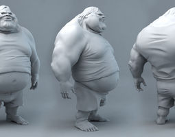 3d printable model fat dude jack