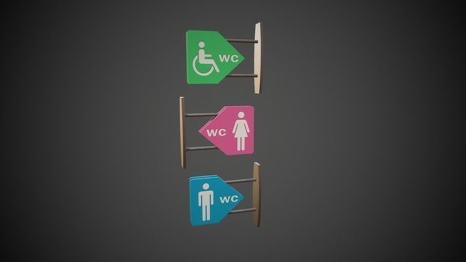 WC Toilet Signs