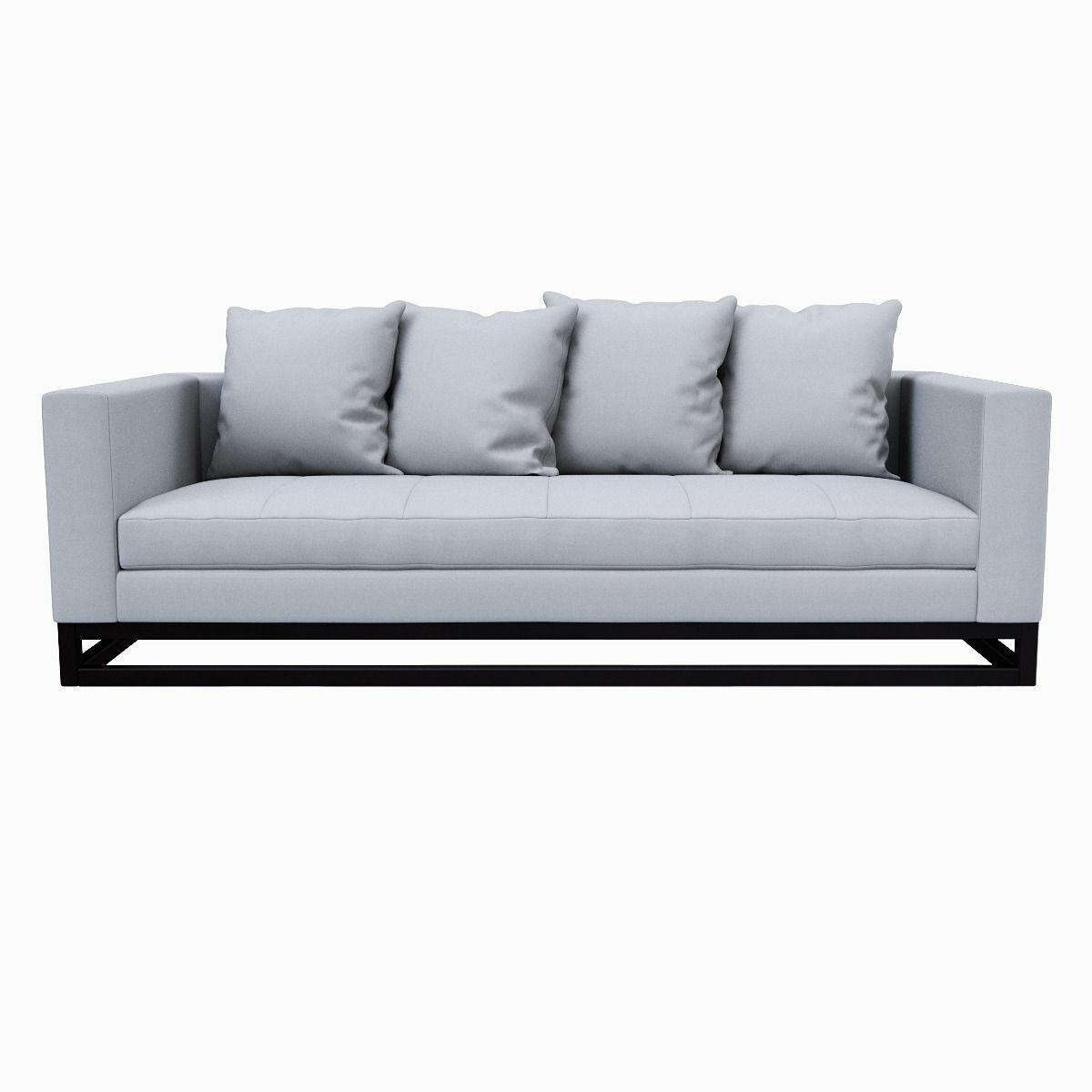 ... West Elm Toss Back Down Filled Sofa 3d Model Max Obj Fbx Mtl 2 ...