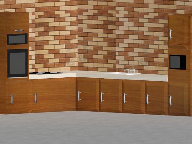 kitchen 3d model max 1
