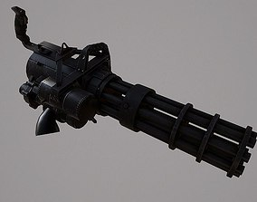 3D asset Minigun m626
