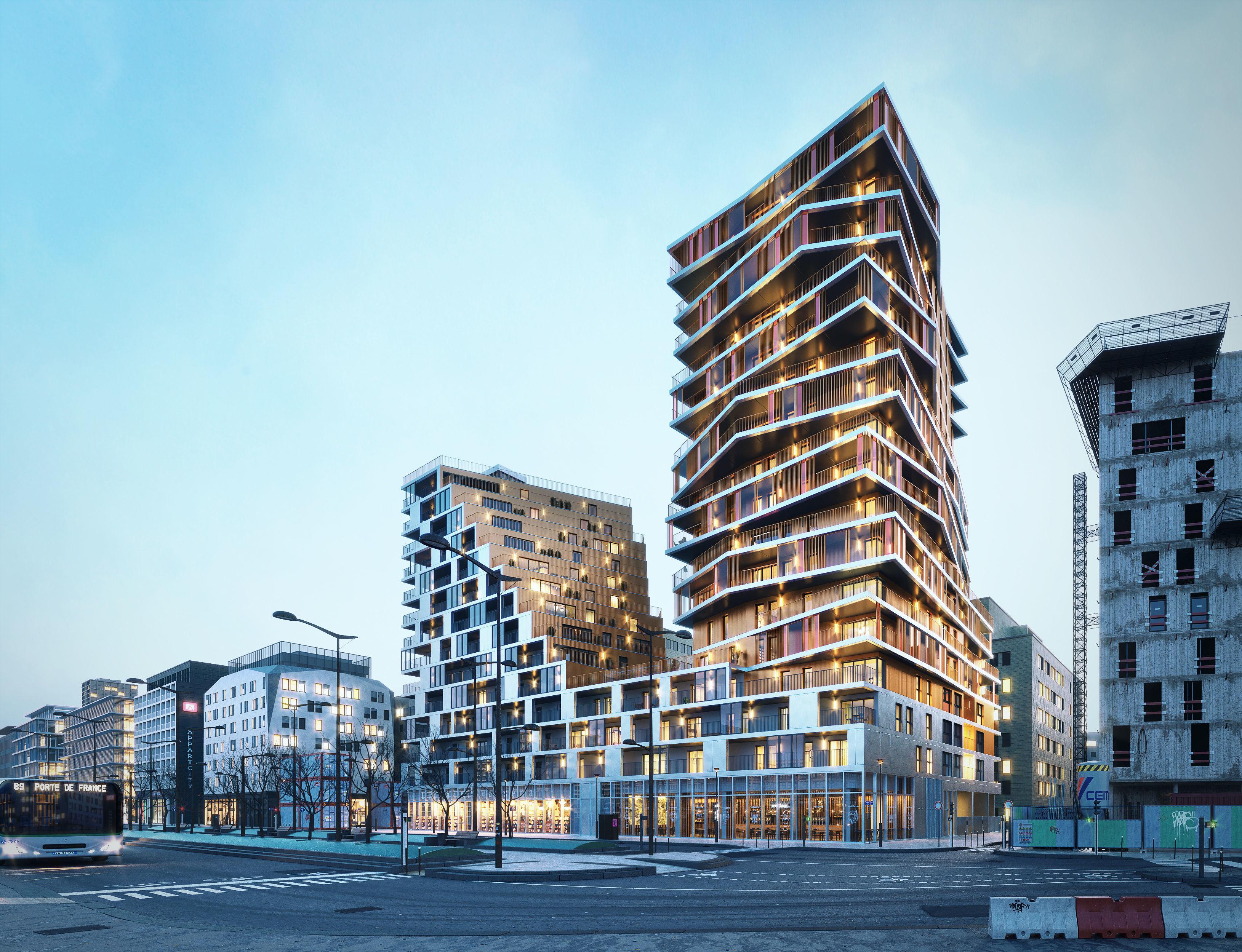 Residential high rise building in Paris