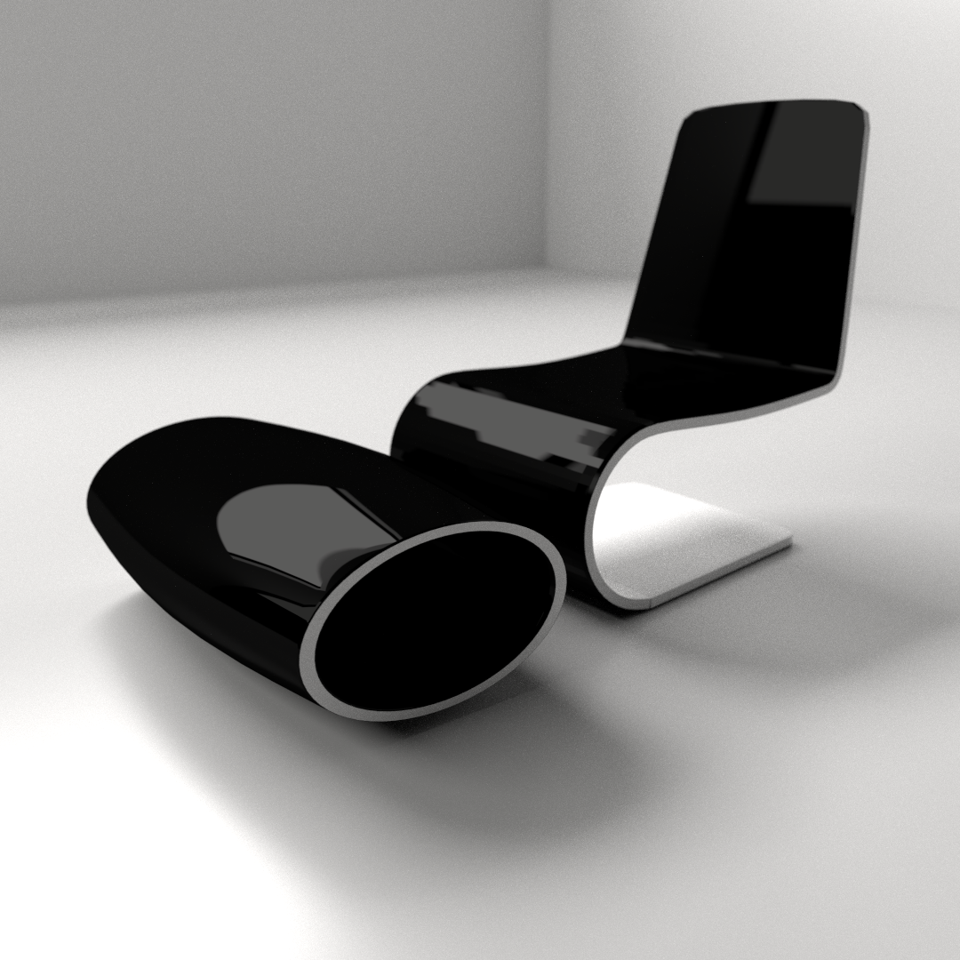 Modern Sofa Chair Designs: Modern Chair 1 3D Model 3DS FBX BLEND DAE