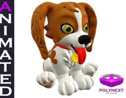 Cartoon Talking Dog 3D model