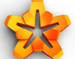 Star flower pendant 3D printable model
