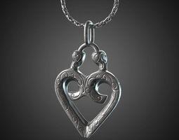 heart pendant - 20mm 3d print model