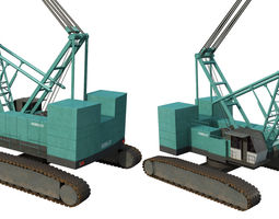 kobelco crawler crane 3d model