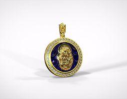 Medallion of the Blessed Virgin Mary 3D printable model
