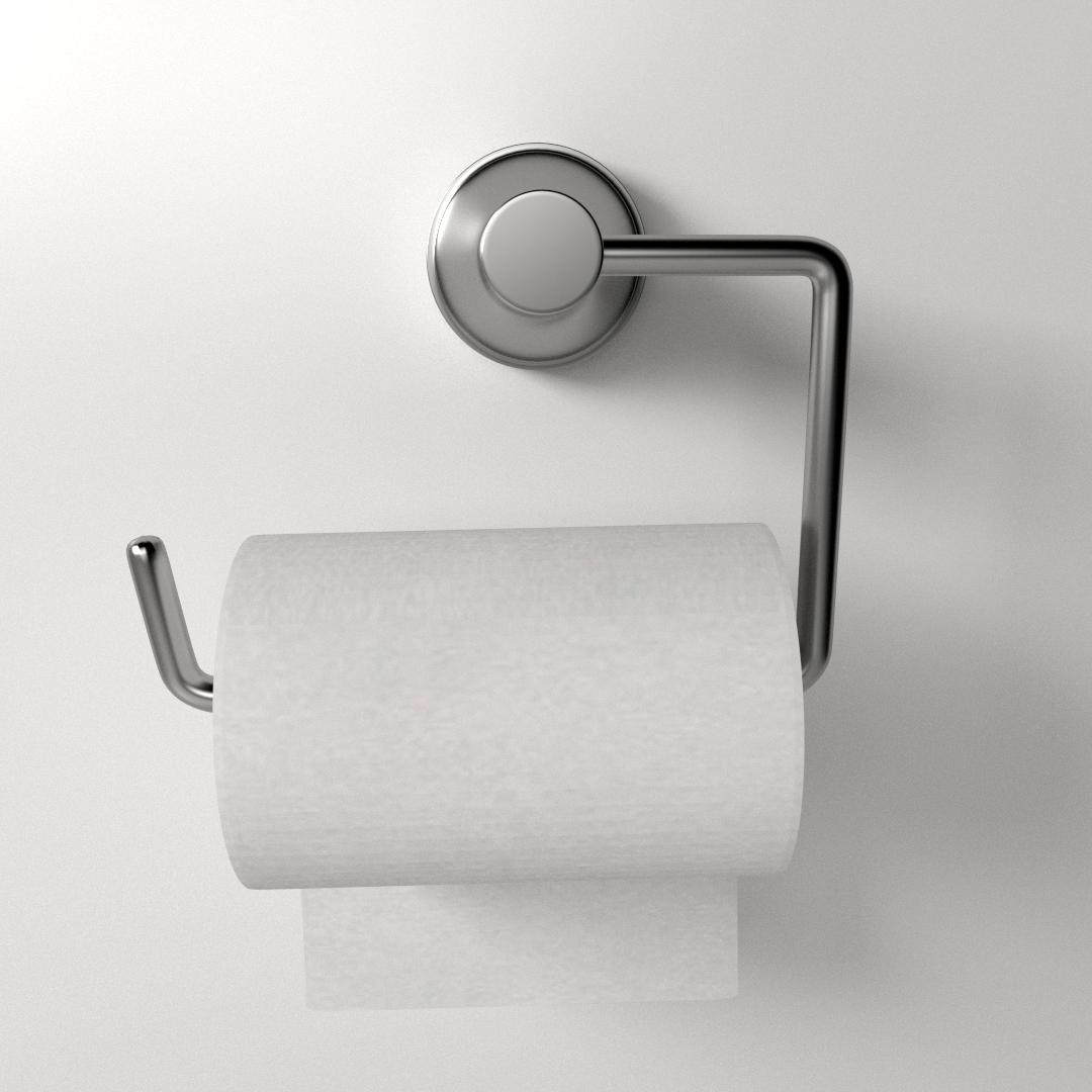 toilet paper holder 3d model 3ds fbx blend dae 2