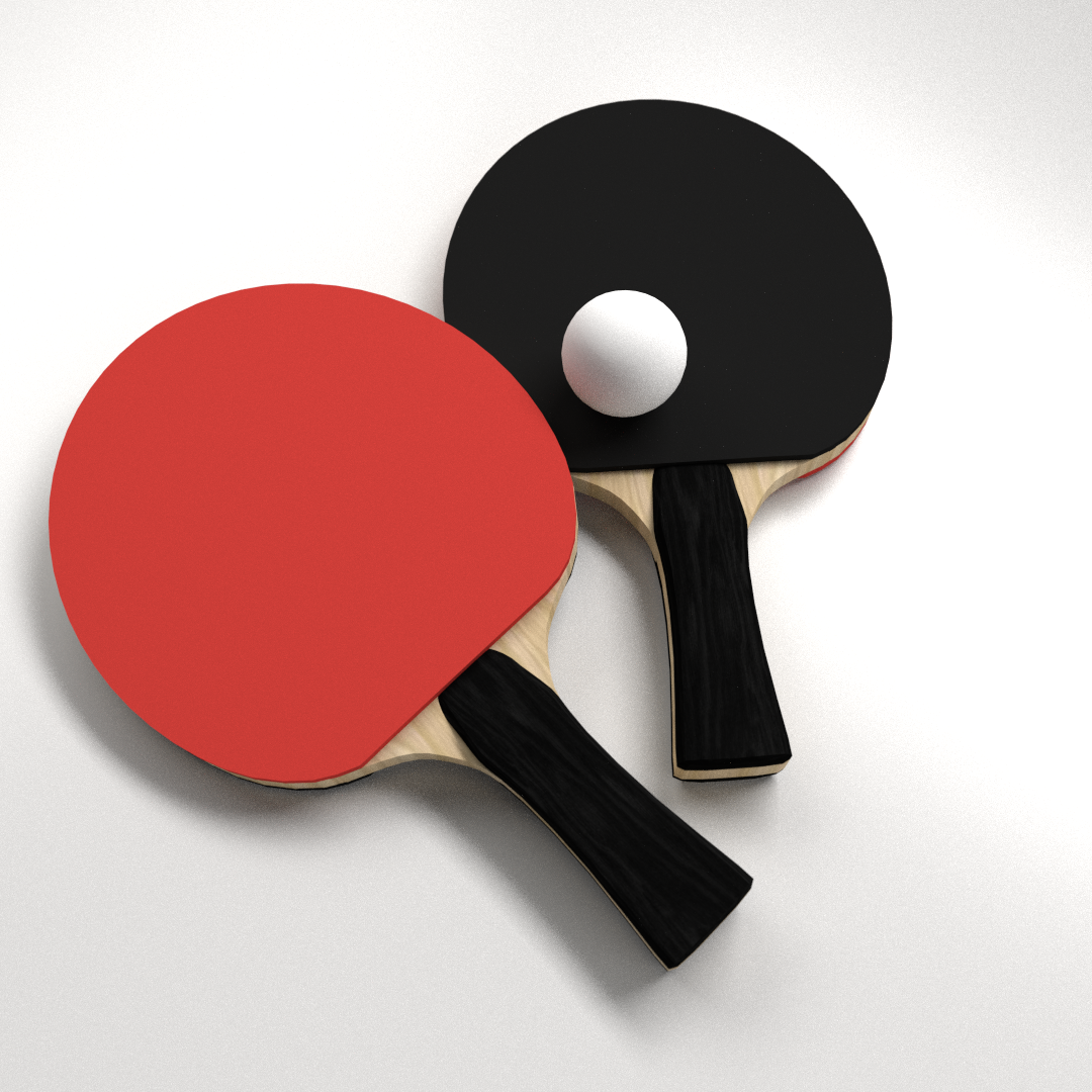 Table Tennis Set 3d Cgtrader