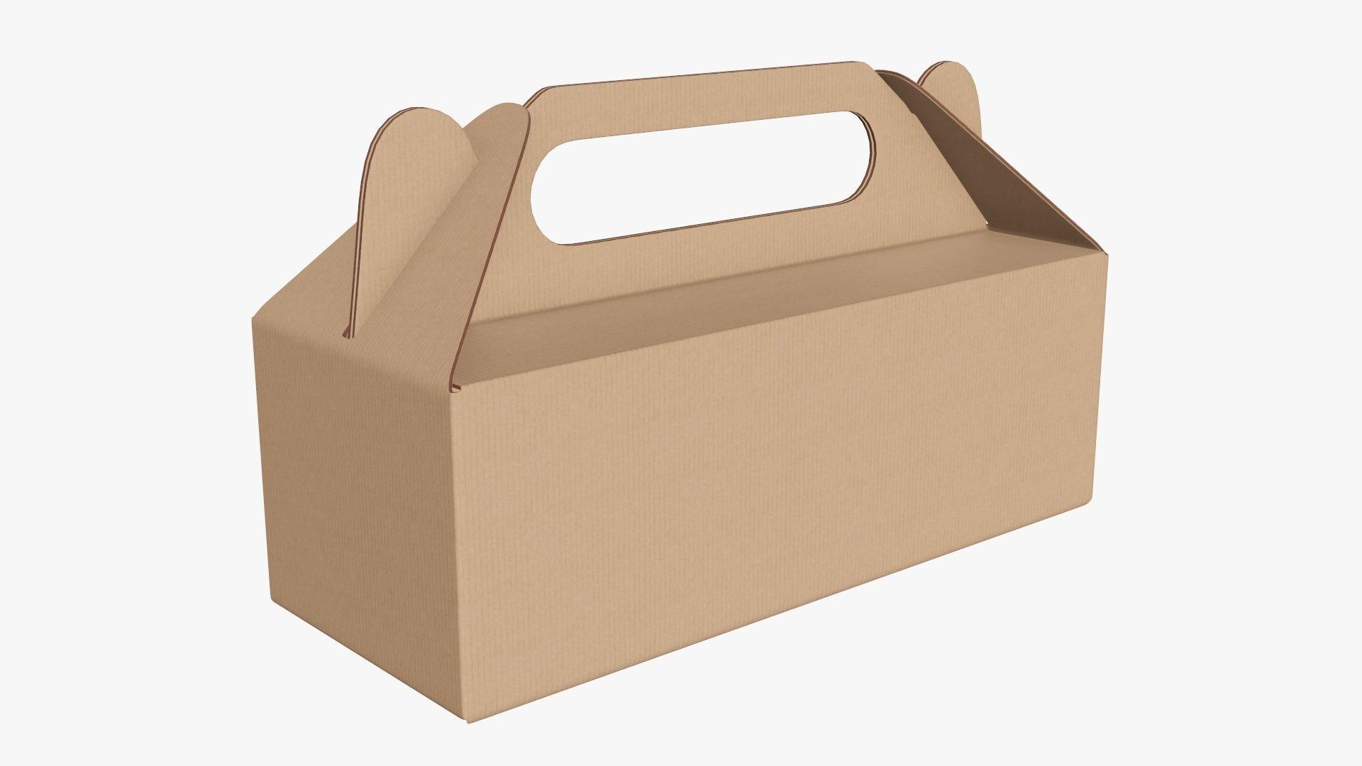 Gable box cardboard food packing 04