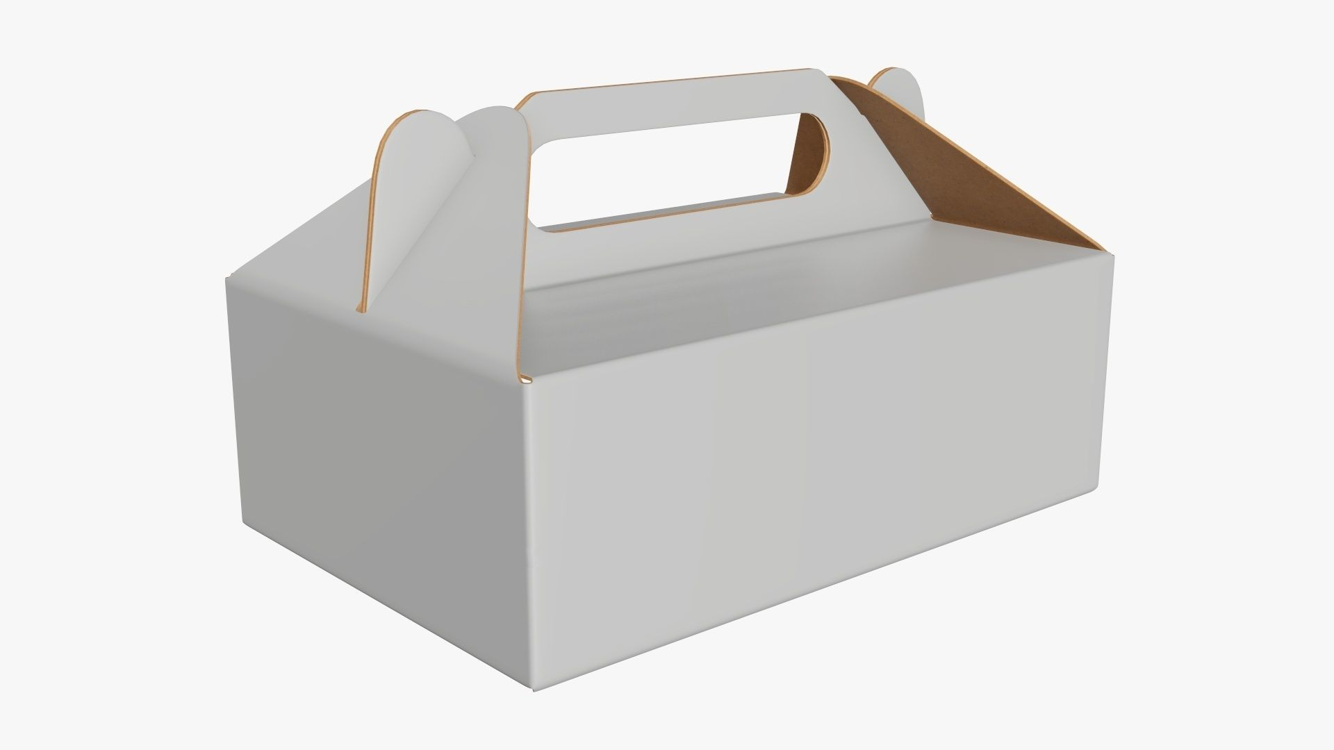 Gable box cardboard food packing 05 white