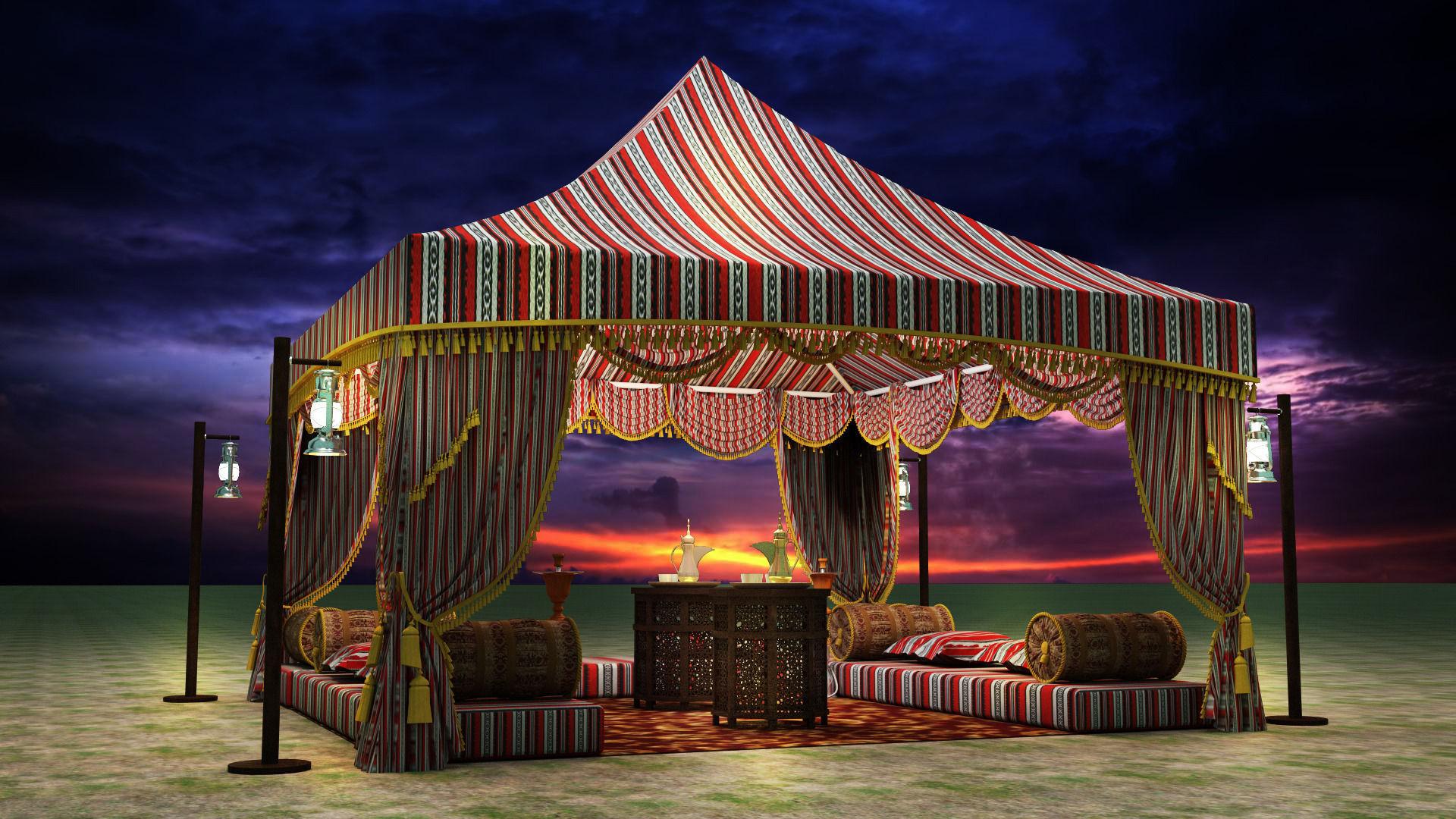 ... arabic tent 3d model max obj fbx mtl 2 ... & 3D Arabic Tent | CGTrader